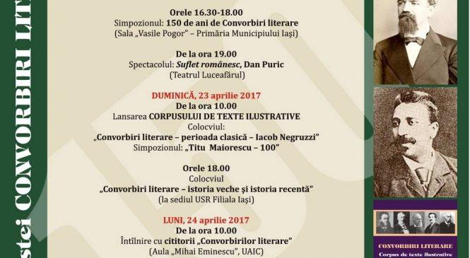 """Ieșenii, invitați la Zilele revistei """"Convorbiri Literare"""""""