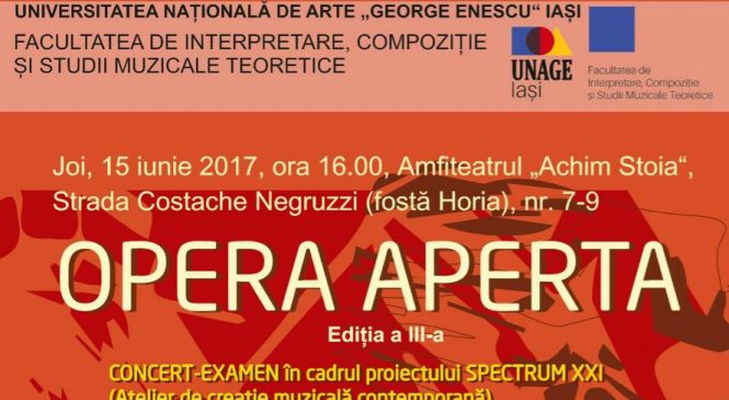 OPERA APERTA, ediția a III a – CONCERT EXAMEN