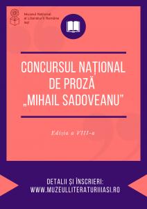 """Autorii care nu au debutat încă, invitați să se înscrie la Concursul Național de Proză """"Mihail Sadoveanu"""""""