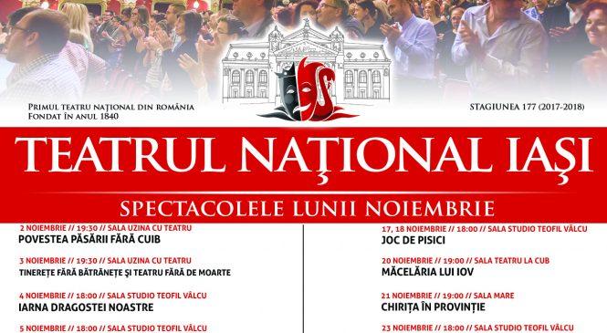Naționalul ieșean a anunțat spectacolele lunii noiembrie