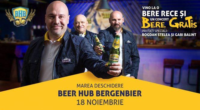 Bogdan Stelea și Gabi Balint vin sâmbătă la concertul Bere Gratis din Beer Hub Bergenbier (BHB)